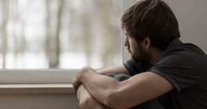 Man suffering for depression