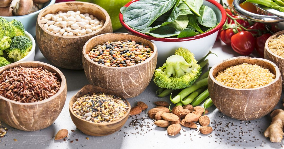 a selection of high fiber foods for people with ms and constipation